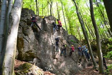 Klettersteig Fränkische Schweiz : Kinderklettersteig