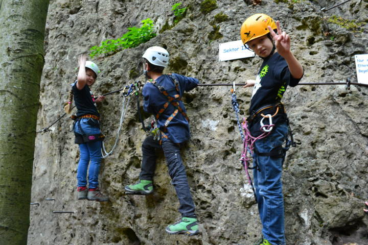 Klettersteig Franken : Kinderklettersteig
